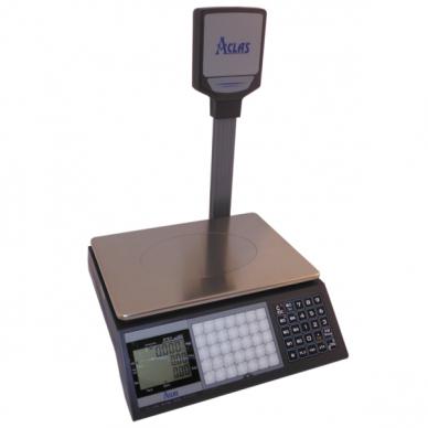 ACLAS PS1DP kainą skaičiuojančios svarstyklės 15/30kg