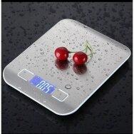 Elektroninės virtuvinės svarstyklės iš nerūdijančio plieno, 10 kg